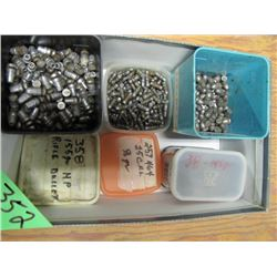 box of assorted cast bullets