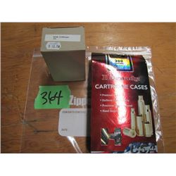 lot of 204 Ruger and 300 Savage brass