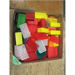 box of assorted shell blocks and cases