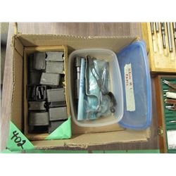 box with Bruno number one parts and Garand stripper clips