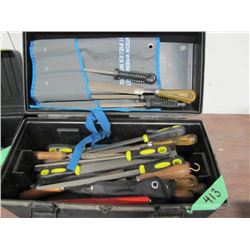 toolbox with assorted files