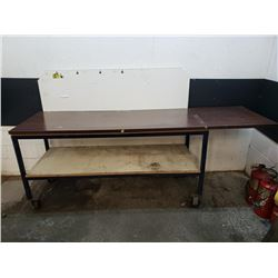 96x28x37 Rolling Work Table