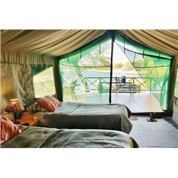 A 2-nights stay at Bobbejaan Dam Tented Chalets for 2 people