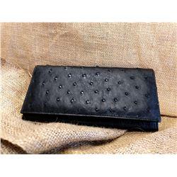 Full Ostrich Leather Purse