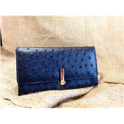 Full Ostrich Leather Purse