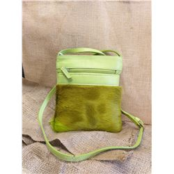 Green Springbok Leather Handbag