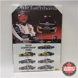 "Hard Board Print 18 x 24 Dale Earnhardt ""7 Time Winston Cup Champion"""
