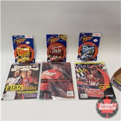 Tray Lot - Dale Earnhardt Jr. : 3 Magazines & 3 Winners Circle 1/64th Scale