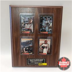"Wood Wall Plaque (11x13) 4 Collector Cards : Dale Earnhardt ""Racings All Time Greatest Driver 1951-2"