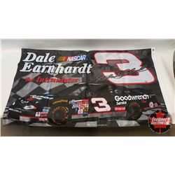 "Flag : Dale Earnhardt ""The Intimidator"" (Double Sided 60"" x 35"")"