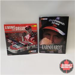 "2 Books: Dale Earnhardt - Nascar ""Determined"" & Dale Earnhardt Jr. - Nascar 2004 Season ""Living The"