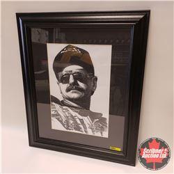 """Dale Earnhardt Portrait Framed Print (Frame Size 24"""" x 20"""")"""