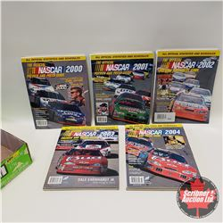Tray Lot : 5 Official Nascar Preview & Press Guides 2000 - 2004