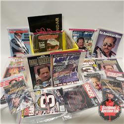 Crate Lot: Dale Earnhardt Books, Magazines & 1997 Calendar