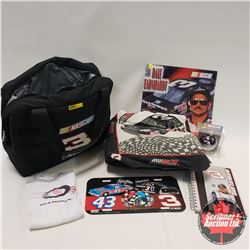 Dale Earnhardt Cooler Bag w/Contents including (2000 Calendar, Notebook, Lic Plate, Xmas Ornament, K