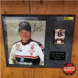 """Dale Earnhardt 7x Winston Cup Champion Plaque w/Print & Collector Card (15""""x12"""")"""