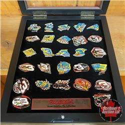 """Dale Earnhardt """"Great Victories"""" Pin Collection in Display Case (12"""" x 14"""")"""