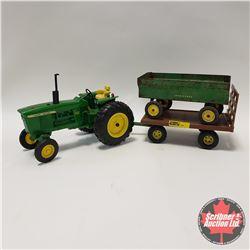 John Deere 4020 Diesel w/2 John Deere Wagons (1/16th Scale)