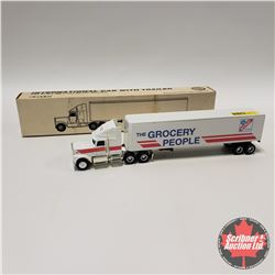 """International Cab w/Trailer """"The Grocery People"""" (1/64 Scale)"""