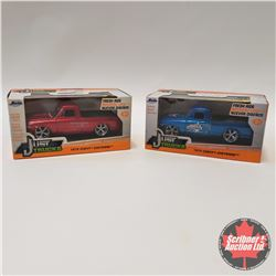 Combo - Jada 1/32 Scale : 1972 Chev Pickup (1 Red & 1 Blue Washington Capitals)