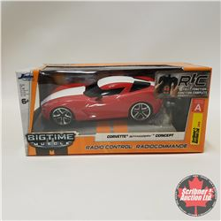Jada  Big Time Muscle  Corvette Stingray Concept Car (Full Time Function Remote Control) (1/24 Scal
