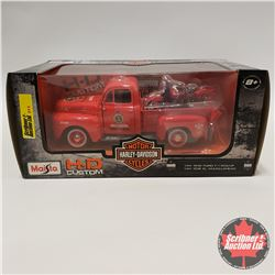 Maisto H.D. Custom (1/24 Scale) 1948 Ford F1 Pickup with 1936 El Knucklehead Harley