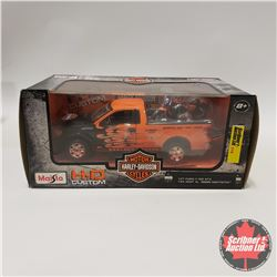 Maisto H.D. Custom : Ford F150 STX (1/27 Scale) & 2007 XL 1200N Nightster Harley (1/24 Scale)