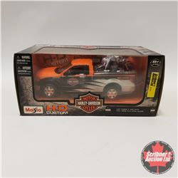 Maisto H.D. Custom : Ford F150 STX (1/27 Scale) & 1958 FLH Duo Glide Harley (1/24 Scale)