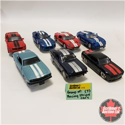 Group of 7 Cars w/Racing Stripes (1/32 Scale)