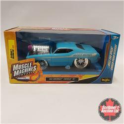 CHOICE OF 4: Maisto Muscle Machines Garage : Blue Chevelle