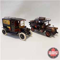 Pair of Oldtimer Tin Cars