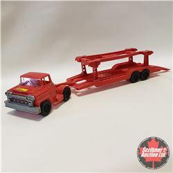 Eldon Semi Truck & Trailer Carhauler - 1960 USA (Plastic)