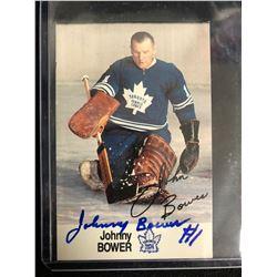 JOHNNY BOWER SIGNED HOCKEY CARD