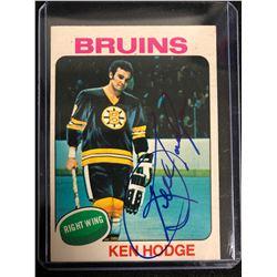 KEN HODGE SIGNED VINTAGE HOCKEY CARD