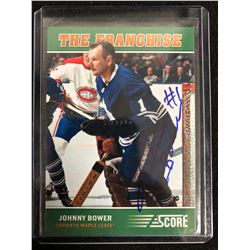 JOHNNY BOWER SIGNED THE FRANCHISE HOCKEY CARD