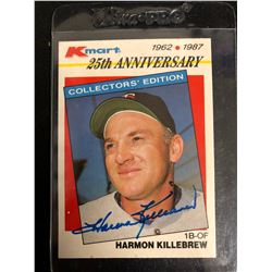 HARMON KILLEBREW SIGNED K-MART 25TH ANNIVERSARY BASEBALL CARD