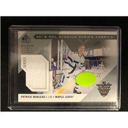 2018 NHL STADIUM SERIES FABRICS PATRICK MARLEAU HOCKEY CARD