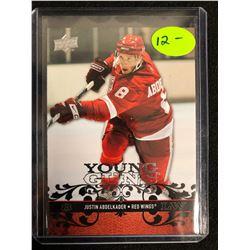 Justin Abdelkader 2008-09 Young Guns Rookie Hockey Card #211