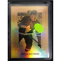 Auston Matthews #GE-2 - 2018-19 Tim Hortons - Gold Etchings