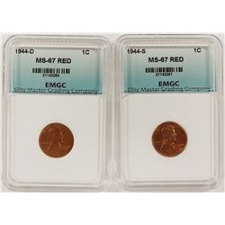 1944-D AND 1944-S LINCOLN CENTS