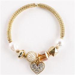 Bangle Flex Bracelet with Heart