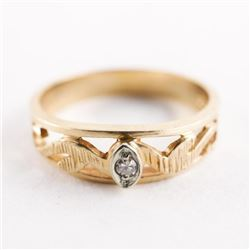Estate 10kt Gold Diamond Ring Size 10 3.49gr