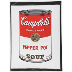 Andy Warhol Fine Art Print - 'Pepper Hot Soup' 17x