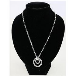 925 Silver Circle of Life Necklace with Swarovski