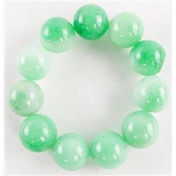 Jadeite 540mm Bead Flex Bracelet