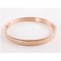 Rose Gold Plated Bangle Cuff Nail Head Design