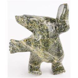 """Original Inuit Stone Carving 'Dancing Bear' 6x5x2"""""""