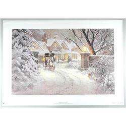 "Doug Laird - LE Litho 'Soft Winter Glow' 34x36"" U"