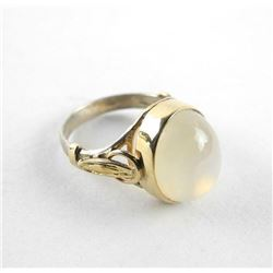 Ladies 9kt Yellow Gold Ring with Gold and Silver.1
