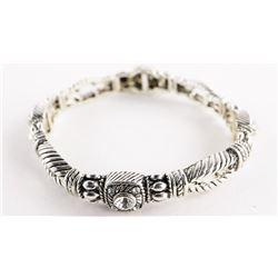 Antique Style Flex Cuff Bracelet with Swarovski El